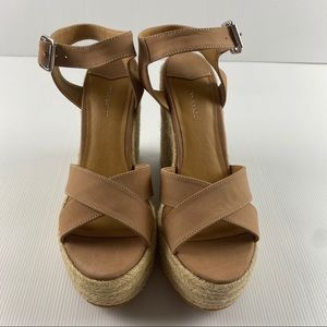 Tony Bianco Wicker Wedge Sandal Heel Shoes Size 41